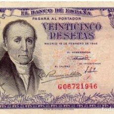 Billetes españoles: 25 PESETAS BILLETE BANCO DE ESPAÑA SERIE G, 1946. Lote 171430122