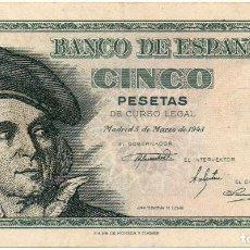 Billetes españoles: BILLETE 5 PESETAS 1948 , MBC , SERIE C , ORIGINAL. Lote 171431672