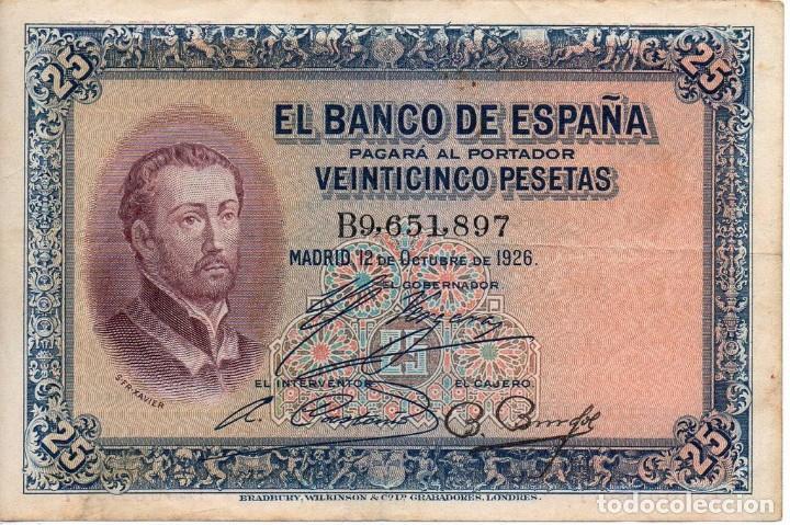 25 PESETAS. 1926. SERIE B. (Numismática - Notafilia - Billetes Españoles)