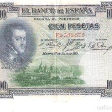 Billetes españoles: BILLETE DE ESPAÑA DE 100 PESETAS DE 1925 CIRCULADO FELIPE II. Lote 171533399