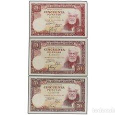 Billetes españoles: BILLETES ESPAÑOLES: ESTADO ESPAÑOL, LOTE 3 BILLETES 50 PESETAS., 31 DICIEMBRE 1951.. Lote 171562469