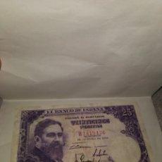 Billetes españoles: BILLETE 25 PESETAS 1954. EL DE LA FOTO. Lote 171599403
