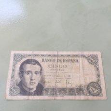 Billetes españoles: BILLETE DE 5 PESETAS 1951. VER FOTO. Lote 171622453