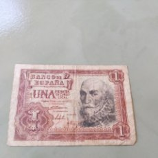 Billetes españoles: BILLETE 1 PESETA 1953. EL DE LA FOTO. Lote 171622854