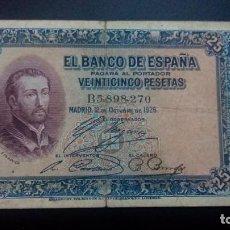 Billetes españoles: 25 PESETAS 1926 (SERIE B). Lote 171627374