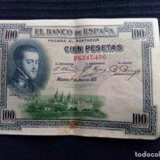 Billetes españoles: BILLETE 100 PESETAS 1925. SERIE F. Lote 171707377