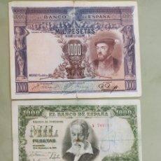 Billetes españoles: LOTE 4 BILLETES DE 1000 PTAS DE DIFERENTES AÑOS . 1925,1951,1965 Y 1992. VER FOTO. Lote 171742942