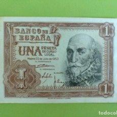Billetes españoles: BILLETE 1 PESETA 1953 EBC. Lote 171749399