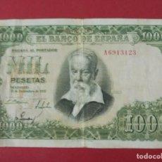 Billetes españoles: BILLETE 1000 PESETAS , AÑO 1951 - JOAQUIN SOROLLA - CON SERIE A ... L137. Lote 171758965