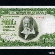 Billetes españoles: 1000 PESETAS 1951. SIN SERIE. EBC / EBC.+. Lote 171799334