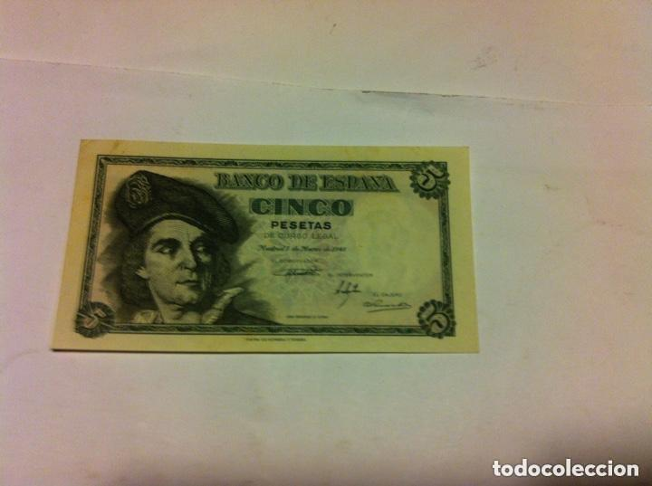 5 PESETAS 1948 - PLANCHA (Numismática - Notafilia - Billetes Españoles)