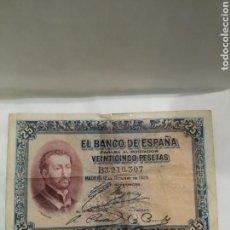 Billetes españoles: BILLETE 25 PESETAS 1926. VER FOTO. Lote 171969562