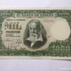 Billetes españoles: 1000 PESETAS 1951 - SIN SERIE - EBC . Lote 171979292