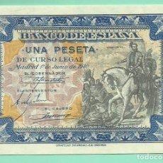 Billetes españoles: BILLETE DE 1 PESETA 1940. PLANCHA. SERIE A.BANCO DE ESPAÑA. Lote 172092464
