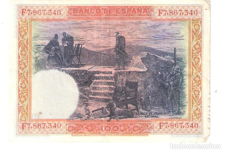 Billetes españoles: BILLETE DE ESPAÑA DE 100 PESETAS DE 1925 MUY CIRCULADO - Foto 2 - 172096993