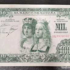 Billetes españoles: BILLETE 1000 PESETAS 1957 REYES CATÓLICOS . Lote 173095927