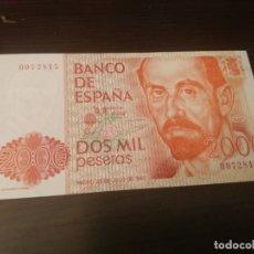 Billetes españoles: BILLETE DE 2000 PESETAS DEL AÑO 1980 DE JUAN RAMON JIMENEZ SIN SERIE CALIDAD SC - 0072815. Lote 173171985