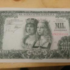 Billetes españoles: 1000 PESETAS 1957 REYES CATOLICOS MBC++ , SERIE 1N8553586. Lote 173172490