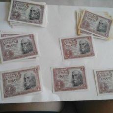 Billetes españoles: LOTE 43 BILLETES 1 PESETA MARQUÉS DE SANTA CRUZ MADRID 22 DE JULIO DE 1953 EBC-. Lote 173205345