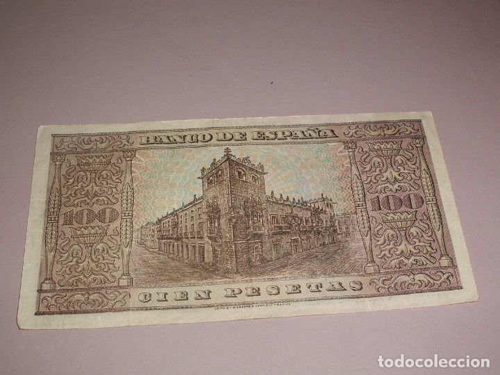 Billetes españoles: MUY BONITO BILLETE DE BURGOS DE 100 PESETAS DEL AÑO 1938 DE LA SERIE D - Foto 2 - 173394264