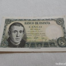 Billetes españoles: BILLETE DE 5 PESETAS AÑO 1951. Lote 173643563