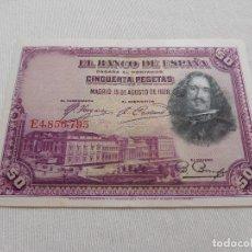 Billetes españoles: BILLETE DE 50 PESETAS AÑO 1928. Lote 173643603