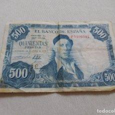 Billetes españoles: BILLETE DE 500 PESETAS AÑO 1954. Lote 173643615