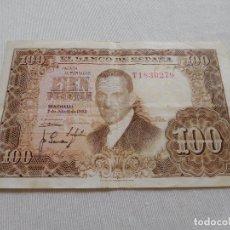 Billetes españoles: BILLETE DE 100 PESETAS AÑO 1953. Lote 173643793