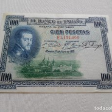 Billetes españoles: BILLETE DE 100 PESETAS AÑO 1925. Lote 173643944