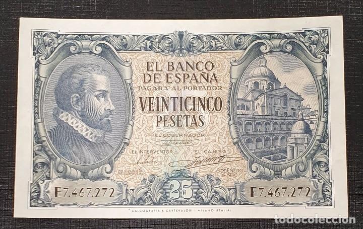 BILLETE 25 PESETAS 1940 HERRERA SERIE E (Numismática - Notafilia - Billetes Españoles)