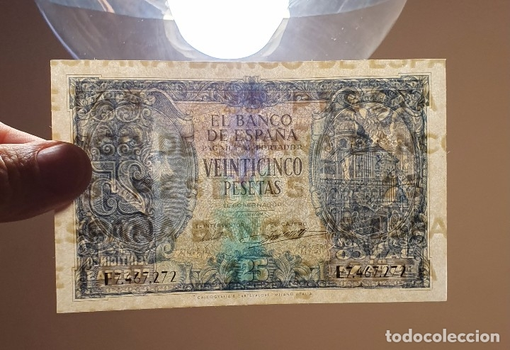 Billetes españoles: BILLETE 25 PESETAS 1940 HERRERA SERIE E - Foto 3 - 174014317
