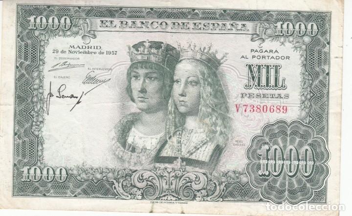 BILLETE BANCO DE ESPAÑA 1000 PESETAS 1957 REYES CATOLICOS (Numismática - Notafilia - Billetes Españoles)