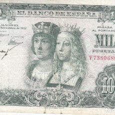 Billetes españoles: BILLETE BANCO DE ESPAÑA 1000 PESETAS 1957 REYES CATOLICOS . Lote 175044930