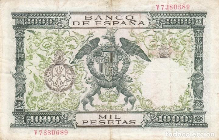 Billetes españoles: BILLETE BANCO DE ESPAÑA 1000 PESETAS 1957 REYES CATOLICOS - Foto 2 - 175044930