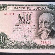 Billetes españoles: CMC 1000 PESETAS 17 SEPTIEMBRE 1971 SIN SERIE SC. Lote 175128639