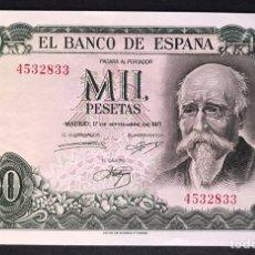 Billetes españoles: CMC 1000 PESETAS 17 SEPTIEMBRE 1971 SIN SERIE SC. Lote 175128715