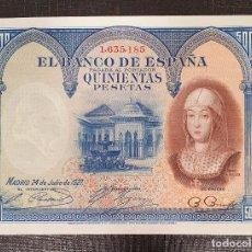 Billetes españoles: BILLETE 500 PESETAS 1927 ISABEL LA CATOLICA . Lote 175222538