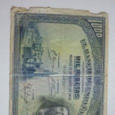 Billetes españoles: BILLETE 1000 PESETAS AGOSTO 1928. Lote 175267460