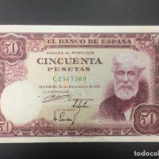 Billetes españoles: 50 PTS 31 DICIEMBRE 1951 CON SERIE EBC-. Lote 175354532