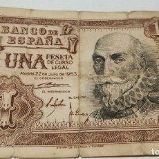 Billets espagnols: BILLETE 1 PESETA , 1953 , BANCO DE ESPAÑA . Lote 175457664