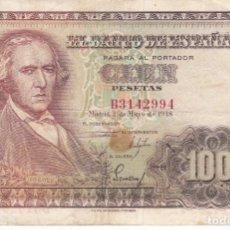 Banconote spagnole: BILLETE DE 100 PESETAS DEL AÑO 1948 DE FCO. BAYEU SERIE B . Lote 175690003