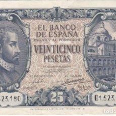 Billetes españoles: BILLETE DE 25 PESETAS DEL AÑO 1940 DE JUAN DE HERRERA SERIE D EN BUENA CALIDAD (DIFICIL). Lote 175763222