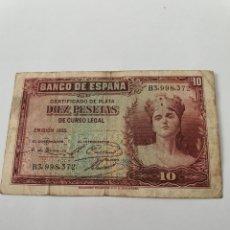 Billetes españoles: BILLETE 10 PESETAS 1935 - REPÚBLICA - DIEZ PESETAS. Lote 175818640