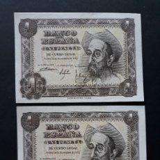 Billetes españoles: 1 PESETA DE 1951 PAREJA CORRELATIVA SERIE R-716/717 S.C. Lote 176102525
