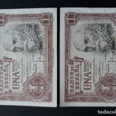 Billetes españoles: 1 PESETA DE 1953 PAREJA CORRELATIVA SERIE Z-216/217 S.C. Lote 176104122
