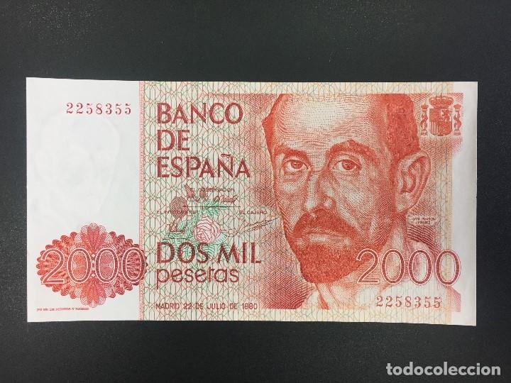 2000 PTS 22 JULIO 1980 SIN SERIE PLANCHA (Numismática - Notafilia - Billetes Españoles)