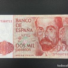 Billetes españoles: 2000 PTS 22 JULIO 1980 CON SERIE PLANCHA. Lote 176216389
