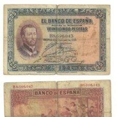 Billetes españoles: 25 PESETAS 1926 . Lote 176305473