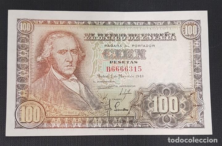 BILLETE 100 PESETAS 1948 BAYEU (Numismática - Notafilia - Billetes Españoles)
