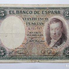 Billetes españoles: BILLETE 25 PESETAS 1931 VICENTE LOPEZ. Lote 176724280